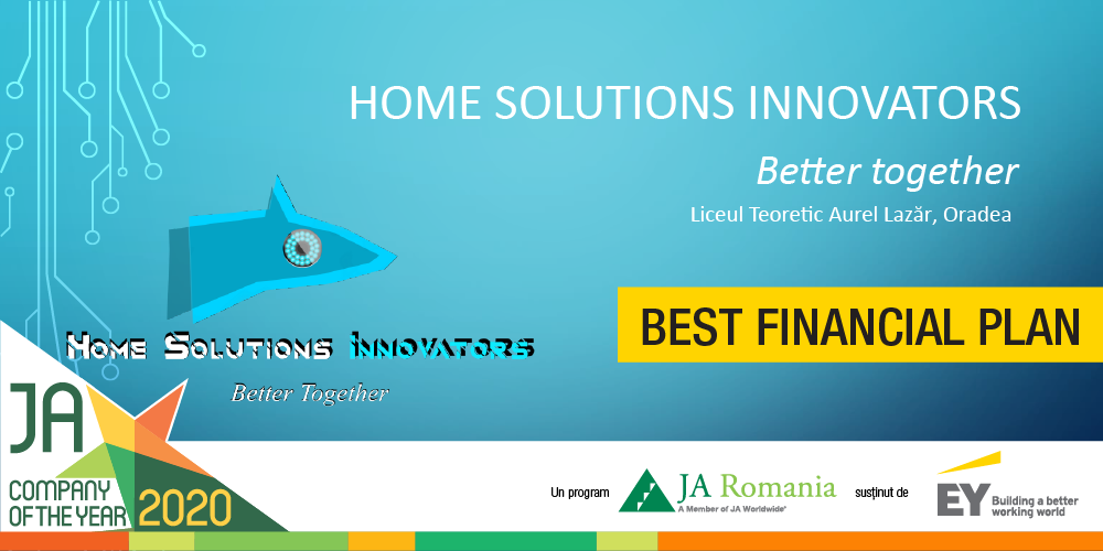 "Home Solutions Innovators - ""Cel mai bun plan financiar"" la categoria elevi"